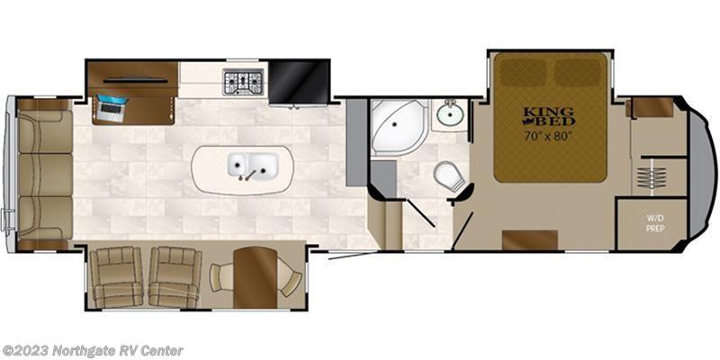 2018 Heartland RV Bighorn BH 3270 RS Floorplan Image