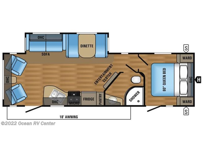2017 Jayco Jay Flight 28RLS floorplan image