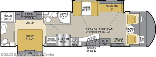 2017 Coachmen Mirada Select 37TB Floorplan