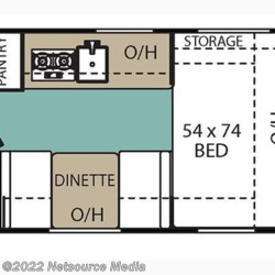 2017 Coachmen Viking 16FB floorplan image
