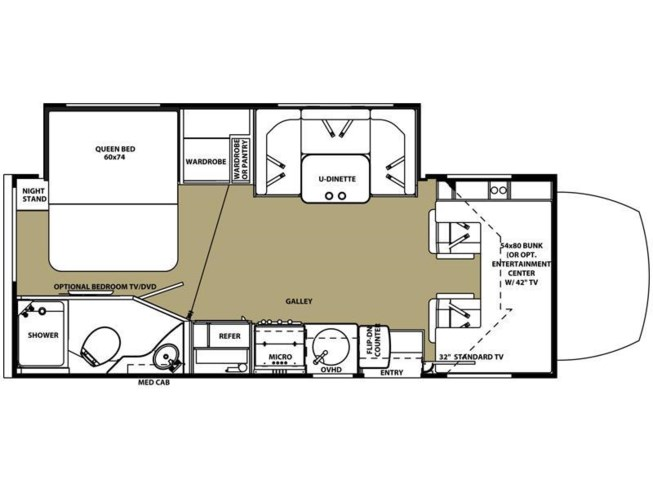 2017 Forest River Sunseeker 2400W MBS floorplan image