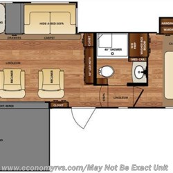 2016 Forest River Wildcat 29RKP floorplan image