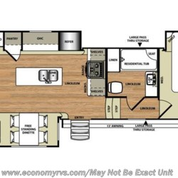 2016 Forest River Salem Hemisphere Lite 337BAR floorplan image