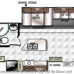2017 Forest River Rockwood Roo 23IKSS floorplan image