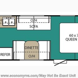 2017 Coachmen Viking 21FQ floorplan image
