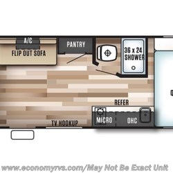 2017 Forest River Salem Cruise Lite 180RT floorplan image