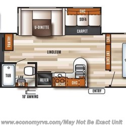 2017 Forest River Salem T31KQBTS floorplan image