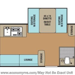 2016 Coachmen Viking 2485 SST floorplan image