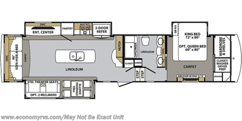 2018 Forest River Cardinal 3456RL floorplan image