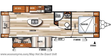 2017 Forest River Salem T27REI floorplan image
