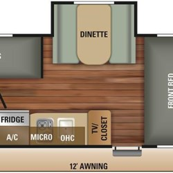 2018 Starcraft Autumn Ridge Outfitter 18BHS floorplan image