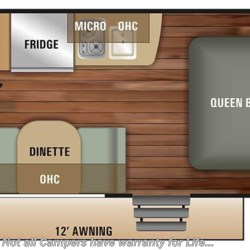 2018 Starcraft Launch Outfitter 7 17QB floorplan image