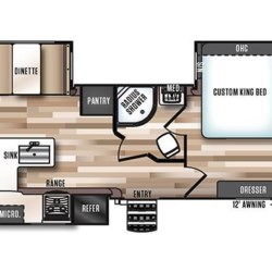 2017 Forest River Wildwood Heritage Glen 326RL floorplan image