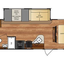 2017 Forest River Wildcat 292QBD floorplan image