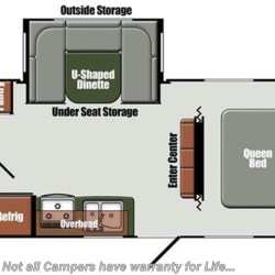 2017 Gulf Stream StreamLite Ultra Lite 24 RBS floorplan image