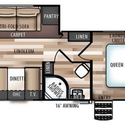 2018 Forest River Wildwood Heritage Glen 24RKHL floorplan image
