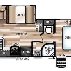 2019 Forest River Wildwood Heritage Glen 26RLHL floorplan image
