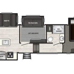 2018 Keystone Sprinter Limited 3571FWLFT floorplan image