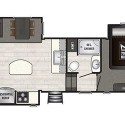 2018 Keystone Sprinter Limited 3151FWRLS floorplan image