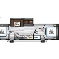 2019 Forest River Cherokee Alpha Wolf 29QD  - Travel Trailer New  in Columbus GA For Sale by COLUMBUS CAMPER & MARINE CENTER call 706-309-1767 today for more info.