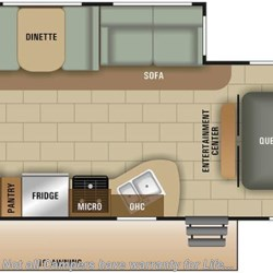 2018 Starcraft Launch Ultra Lite 25RBS floorplan image