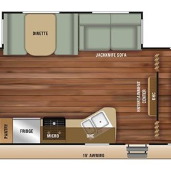 2018 Starcraft Autumn Ridge Outfitter 26BHS floorplan image