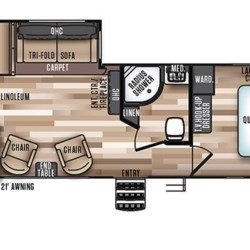 2018 Forest River Wildwood Heritage Glen LTZ 282RK floorplan image