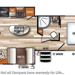 2018 Forest River Vibe 28RL floorplan image