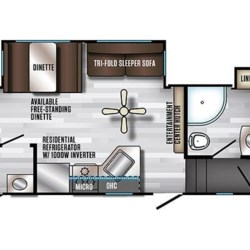 2019 Forest River Cherokee Arctic Wolf 315TBH floorplan image