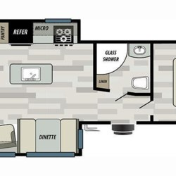 2019 Forest River Salem 27REI floorplan image