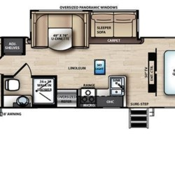 2019 Forest River Vibe 33BH floorplan image