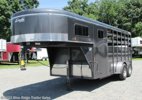 "Used 2016 Delta 12' GN w/4' Dress Stock Trailer 7'x6'8"" For Sale by Blue Ridge Trailer Sales available in Ruckersville, Virginia"