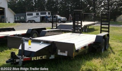 New 2019 Rice Trailers 14K 16 + 2  Equipment Hauler For Sale by Blue Ridge Trailer Sales available in Ruckersville, Virginia