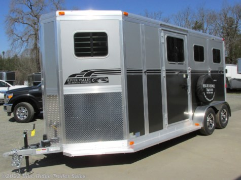 "New 2019 River Valley 2H BP w/dress and side ramp 7'6""x6'8\"" For Sale by Blue Ridge Trailer Sales available in Ruckersville, Virginia"