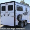 "Blue Ridge Trailer Sales 2019 2H BP w/Dress 7'6""x6'8\""  Horse Trailer by Hawk Trailers 