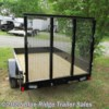 2020 Rice Trailers Stealth 5x8 SA  w/4' Gate  - Utility Trailer New  in Ruckersville VA For Sale by Blue Ridge Trailer Sales call 434-985-4151 today for more info.