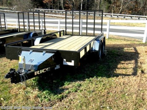 "New 2019 Rice Trailers 6x14 TA Pipe Top w/5' Gate 76"" between fenders For Sale by Blue Ridge Trailer Sales available in Ruckersville, Virginia"