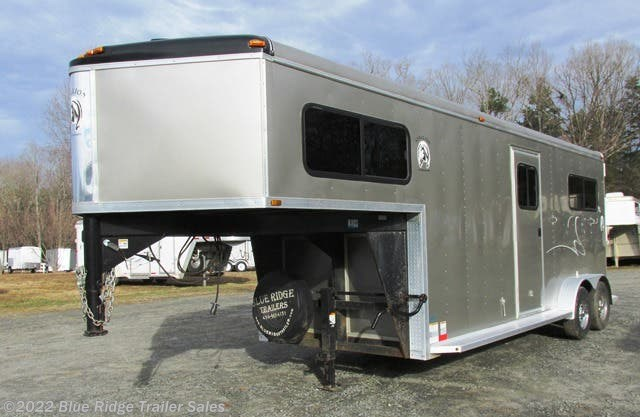 2014 Homesteader Stallion 78x 7 2 Horse GN With Blue Ridge Trailer