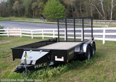 "New 2019 Rice Trailers 6x16 Stealth TA w/5' Gate 76"" Between Fenders For Sale by Blue Ridge Trailer Sales available in Ruckersville, Virginia"