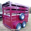 "Blue Ridge Trailer Sales 2020 7'6""x6' Stock with Single Rear Door and Slider  Horse Trailer by Valley Trailers 
