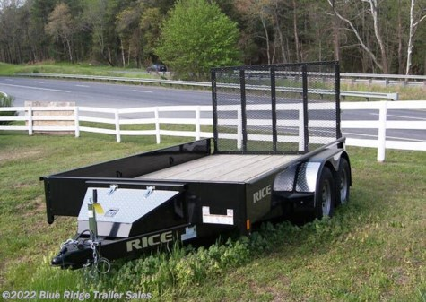 "New 2020 Rice Trailers Stealth 7x16 TA w/4' Gate 82"" Between Fenders For Sale by Blue Ridge Trailer Sales available in Ruckersville, Virginia"