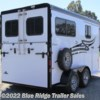 "Blue Ridge Trailer Sales 2021 2H BP w/5ft Dress 7'6""x6'8\""  Horse Trailer by Hawk Trailers 