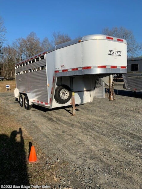 "Used 2003 Exiss 3H GN w/Single Rear Door and Slider, 7'x7'3"" For Sale by Blue Ridge Trailer Sales available in Ruckersville, Virginia"