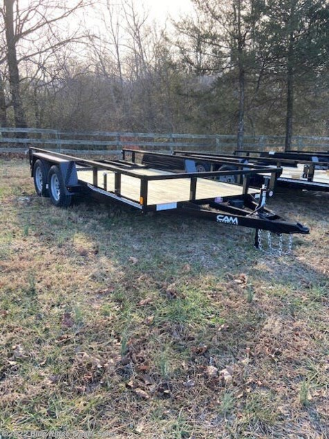New 2021 CAM Superline 7x14 TA Tube Top with Ramp For Sale by Blue Ridge Trailer Sales available in Ruckersville, Virginia