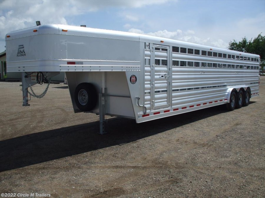 2017 Platinum Coach 32' Stock Trailer 8 wide with 3-7,000# axles