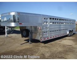 #5928S4 - 2018 Platinum Coach 28' Stock Trailer 8 wide with 2-8,000# axles