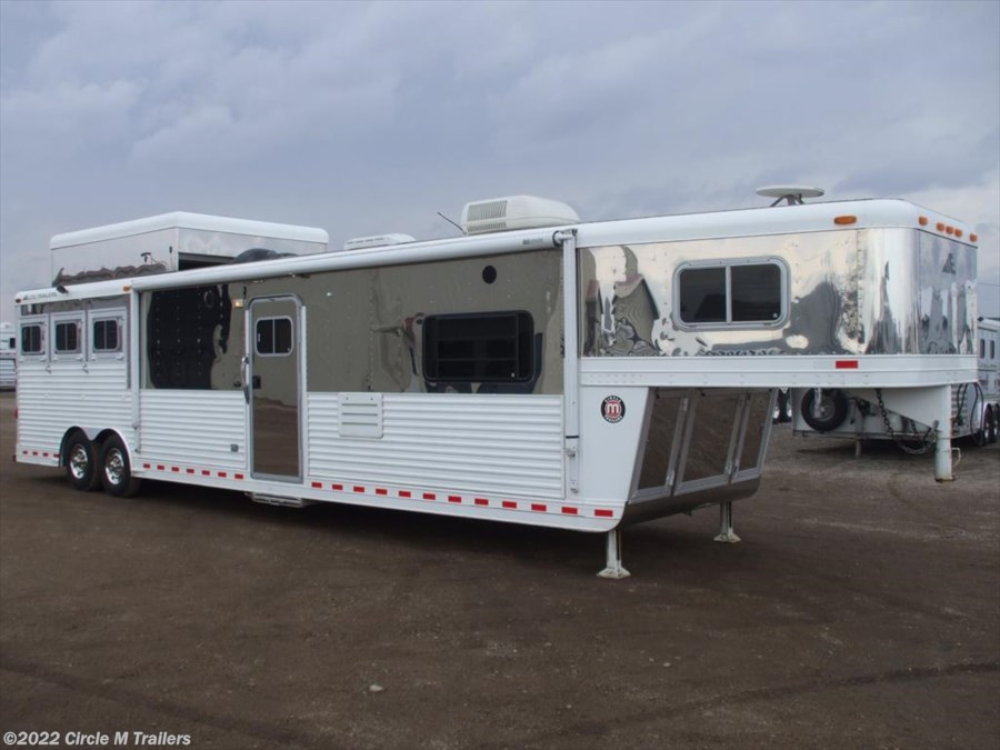 2003 Elite Trailers 3 horse 18' SW Couch & Chairs + Outlaw + AIR RIDE