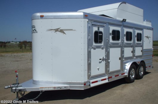 4 Horse Trailer - 2018 Platinum Coach 8 wide Platinum 4 HBP With MANGERS available New in Kaufman, TX
