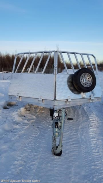 New 2016 Aluma 8.5' X 18' ALL ALUMINUM WITH BRAKES For Sale by White Spruce Trailer Sales available in North Pole, Alaska