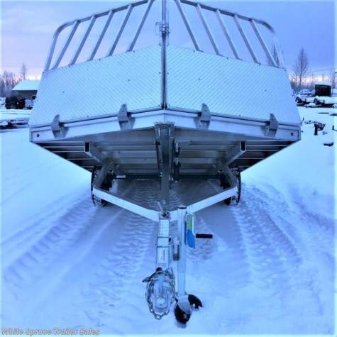 New 2018 Aluma 8.5' X 12' SNOW TILT WITH RAMP/SHIELD For Sale by White Spruce Trailer Sales available in North Pole, Alaska